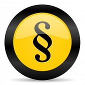 paragraph black yellow web icon