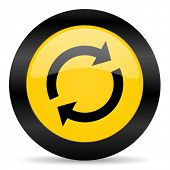 reload black yellow web icon