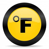 fahrenheit black yellow web icon