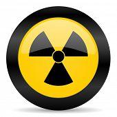 radiation black yellow web icon
