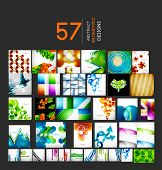 Mega collection of geometric shape abstract backgrounds. Business hi-tech creative, presentation, we