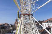 People Enjoy The Big Wheel At The 24Th Barbarossamarkt Festival