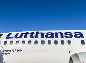 Lufthansa Aircraft Under Blue Sky
