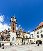 People Visit Archcathedral Basilica Of Saints Stanislaus And Wenceslaus On The Wawel Hill