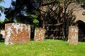 Gravestones iun churchyard.