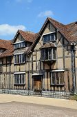 pic of william shakespeare  - Front view of Shakespeares Birthplace along Henley Street - JPG