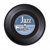 Jazz music vinyl record