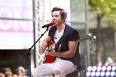NEW YORK-MAY 26: Recording artist Austin Mahone performs on the Toyota Concert Series on NBC's Today Show at Rockefeller Plaza on May 26, 2014 in New York City.