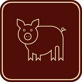 Pig - vector sign