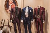 Elegant Menswear On Display At Si' Sposaitalia In Milan, Italy