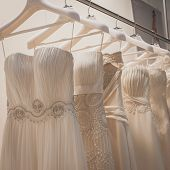 Elegant Ceremony Dresses On Display At Si' Sposaitalia In Milan, Italy