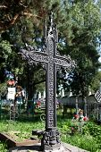 old tombstone gothic cross