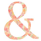 Ampersand With Floral Texture. And Symbol