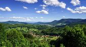 Bird-fly Alsace Panoramic View