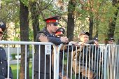 a Police cordon on shares of Russian opposition for fair elections, Bolotnaya square