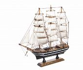 Model Of The Sailing Ship Amerigo Vespucci