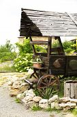 picture of wooden shack  - Old retro wooden shack - JPG
