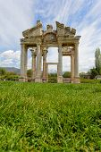 Aphrodisias City Gate From Grass Level