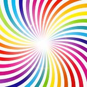 image of hypnotic  - Abstract Rainbow Hypnotic Background Vector Illustration - JPG