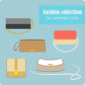 Women's fashion collection of bags