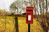 British mail box in the countryside