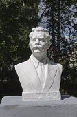 Bust Of Maxim Gorky In Park
