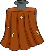 picture of mystique  - Isolated magician hat on table over white background - JPG