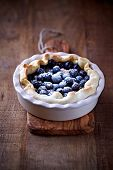 Blueberry Quiche ina Ceramic Dish