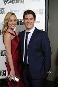 LOS ANGELES - SEP 24:  Kelley Jakle, Adam DeVine arrives at the