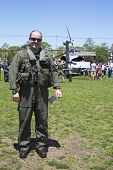 Unidentified helicopter pilot after mine countermeasures demonstration during Fleet Week 2014 i