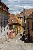 Narrow street in Sighisoara