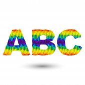 Triangular Letters ABC