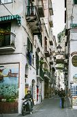 Narrow Street In Amalfi, Italy