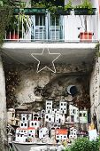 Minature Town Under Balcony In Amalfi, Italy