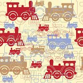 Steam colorful trains