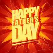 Happy Fathers day typographical pop-art style card. Eps10