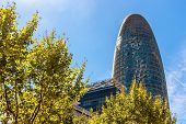 BARCELONA, SPAIN - CIRCA JUNE 2013: Torre Agbar on Technological District. This 38-storey tower was designed by the famous architect Jean Nouvel.