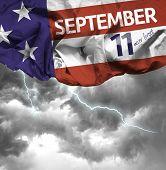 9/11 Patriot Day, September 11 waving flag