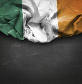Ireland waving flag on blackboard