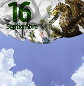 September, 16 Independence of Mexico - 16 de Septiembre, Independencia de Mexico on a beautiful day