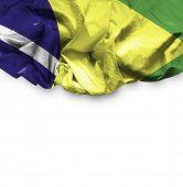 Brazil waving flag on white background