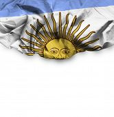 Argentina waving flag on white background