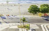 RIO DE JANEIRO, BRAZIL - CIRCA NOV 2013: Copacabana Beach in Rio de Janeiro, Brazil