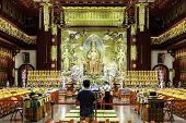 SINGAPORE - CIRCA MAY 2014: The Buddha Tooth Relic Temple & Museum in Singapore.
