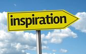 Inspiration creative sign on a beautiful day