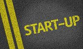 Start-Up written on the road
