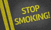 Stop Smoking written on the road