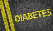 Diabetes written on the road