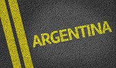 Argentina written on the road