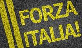 Forza Italia! written on the road (in italian)